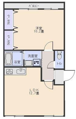 56平米1LDK203号室(契約中)の画像