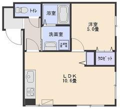 42平米1LDK305号室(商談中)の画像
